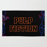 pulp fiction Area & Throw Rugs featuring Pulp Fiction by Studio 401