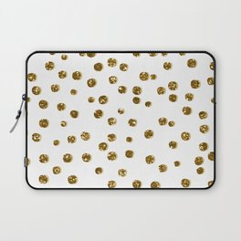 Gold Glitter Confetti Laptop Sleeve
