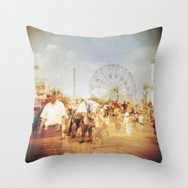 Coney Island #2 Throw Pillow