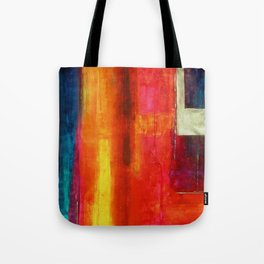 Philip Bowman Color Fields II Modern Abstract Art Painting Tote Bag