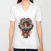 phoenix V-neck T-shirts featuring Phoenix by Diogo Verissimo