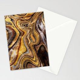 Tiger's Eye gemstone pattern Stationery Cards