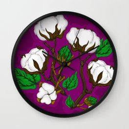 Cotton Berry Wall Clock