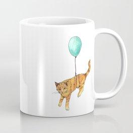 The cat and the baloon Coffee Mug