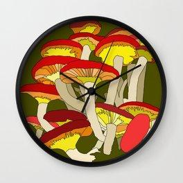 Mushroom Clump #1 Wall Clock