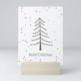 Minimal Merry Christmas   Mini Art Print