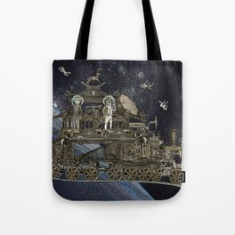 Oriental Steampunk Space Expess Tote Bag