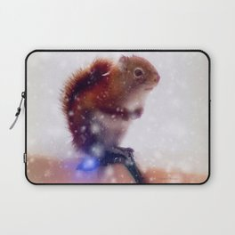 Warming up the feet Laptop Sleeve
