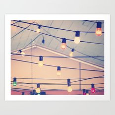 String up the Lights Art Print