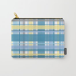 Blue and Yellow Tartan Carry-All Pouch