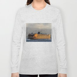 The Staten Island Ferry (Broadside) Long Sleeve T-shirt
