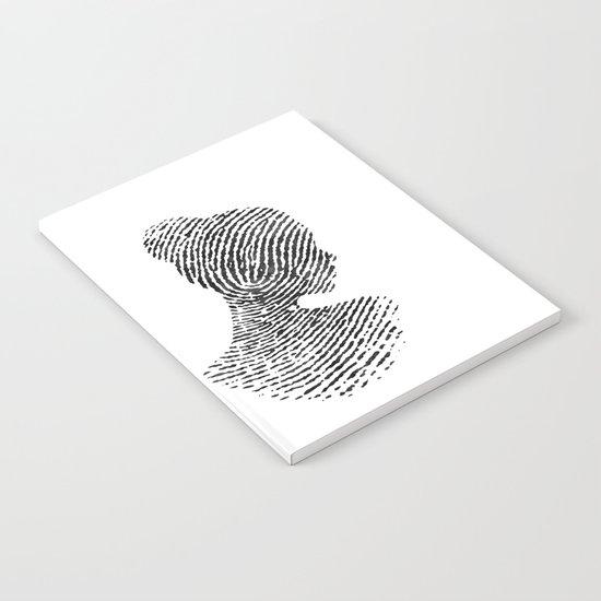 Fingerprint Silhouette Portrait No.1 Notebook