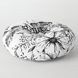 Rave On Floor Pillow
