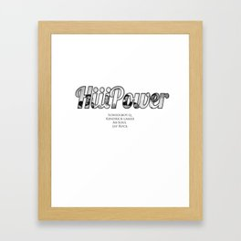 HiiiPower/TDE/Black Hippy Artists Framed Art Print