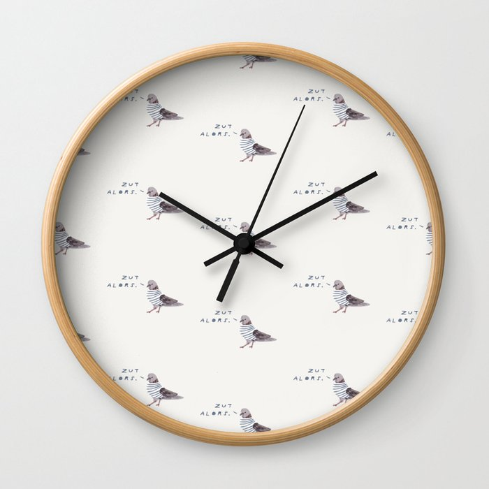 Zut Alors // French Birds Wall Clock
