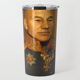 Sir Patrick Stewart - replaceface Travel Mug