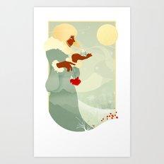 Mountain Poppies Art Print