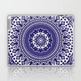 Mandala 006 Midnight Blue on White Background Laptop & iPad Skin