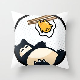 Snorlax Gudetama Lazy Duo (San-x) Throw Pillow