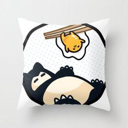 Snorlax Gudetama Lazy Duo (San-x) Throw Pillow