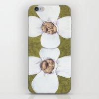 men iPhone & iPod Skins featuring Flower Men by Jason Ratliff