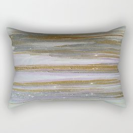 Gold and Silver Deluge Rectangular Pillow