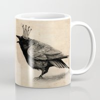 raven Mugs featuring Raven by Anna Shell
