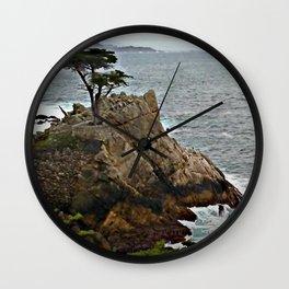 Monterey Lone Cypress Wall Clock