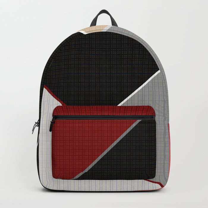 Brown grey abstract pattern . Backpack