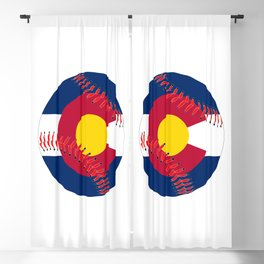 Colorado Flag Baseball Blackout Curtain