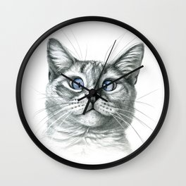 Cross Eyed cat G122 Wall Clock