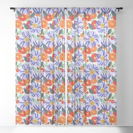Alia #floral #illustration #botanical Sheer Curtain
