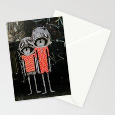 street art couple Stationery Cards