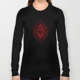 The Eye of Providence is watching you! (Diabolic red Freemason / Illuminati symbolic) Long Sleeve T-shirt