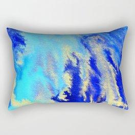Gold & blue abstract 1710009 Rectangular Pillow