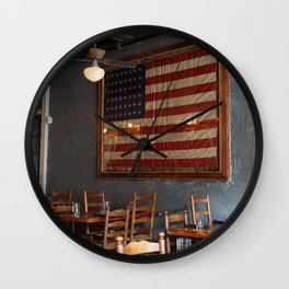 Sylvain's Flag of America Wall Clock