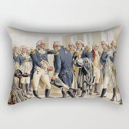 Washington's Farewell to Officers by H.A. Ogden (1893) Rectangular Pillow