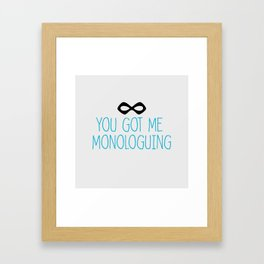 Syndrome Monologuing Framed Art Print