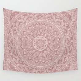 Mandala - Powder pink Wall Tapestry