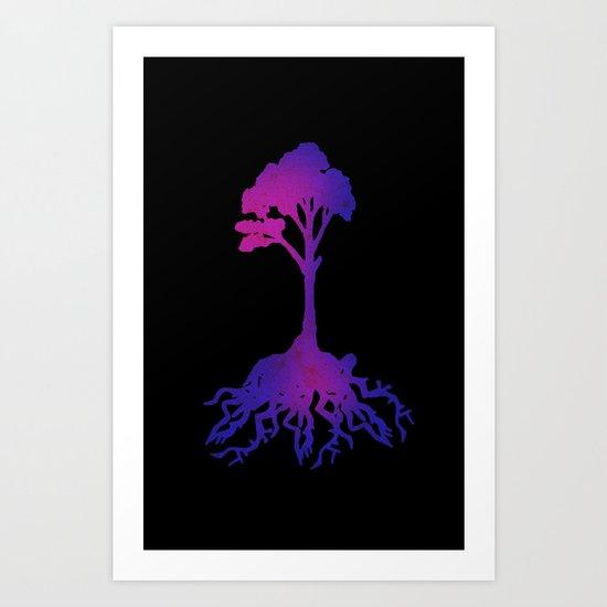 Color tree Art Print