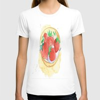 strawberry T-shirts featuring strawberry by Ayşe Sezaver
