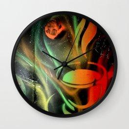 Space Coffee Wall Clock