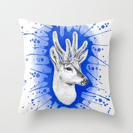 Huemul Throw Pillow