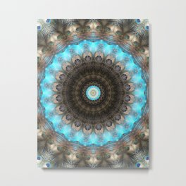 Mandala Eyes Metal Print