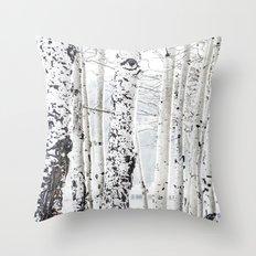 White Tree 2 Throw Pillow