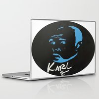 karl Laptop & iPad Skins featuring Karl Pilkington  by All Surfaces Design