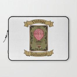 Vintage Balloonist Hot Air Balloon Pilot Ballooning Laptop Sleeve