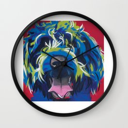 Blue Dog Wirehaired Griffon Wall Clock