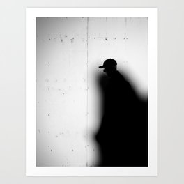 Captured by Shadow Art Print