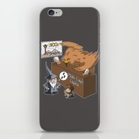 middle earth iPhone & iPod Skins featuring Middle Earth Travels by souldroid